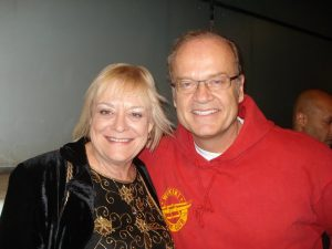 Author Jeanette JOY Fisher with Actor Kelsey Grammer