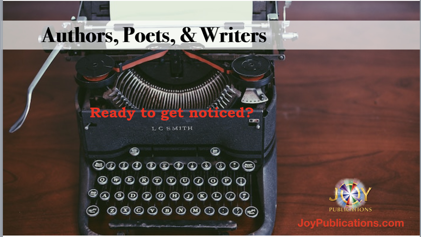 Authors Poets Writers Joy Publications 2 | Joy Publications